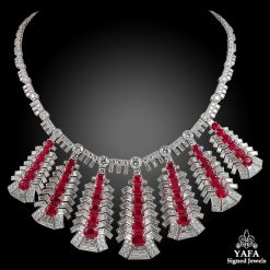 Platinum Diamond & Ruby Necklace