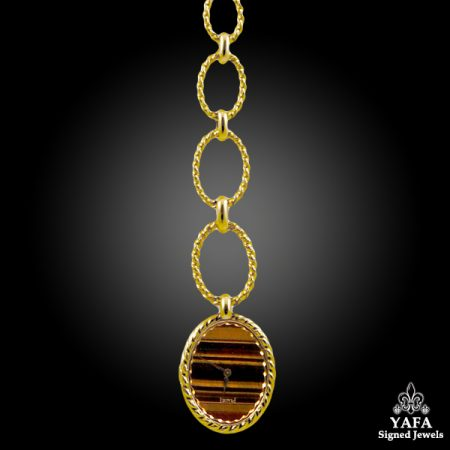 PIAGET 18k Gold Link Necklace Watch