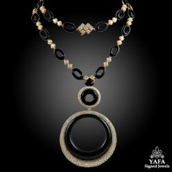 CARTIER Diamond & Onyx Long Necklace