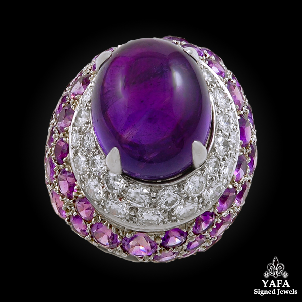 VAN CLEEF & ARPELS Diamond & Amethyst Ring