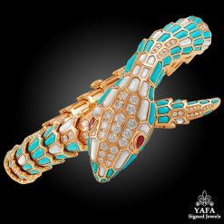 BULGARI Rose Gold Diamond, Turquoise, Ruby Serpenti Watch