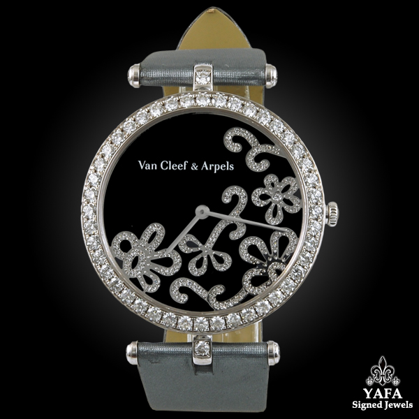Van Cleef Arpels Diamond Flower Watch on brooches oscar heyman