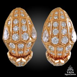Bulgari Serpenti Diamond Ear Clips