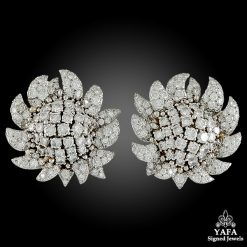 DAVID WEBB Two Tone Diamond Ear Clips
