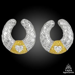 GRAFF Diamond Swirl Ear Clips