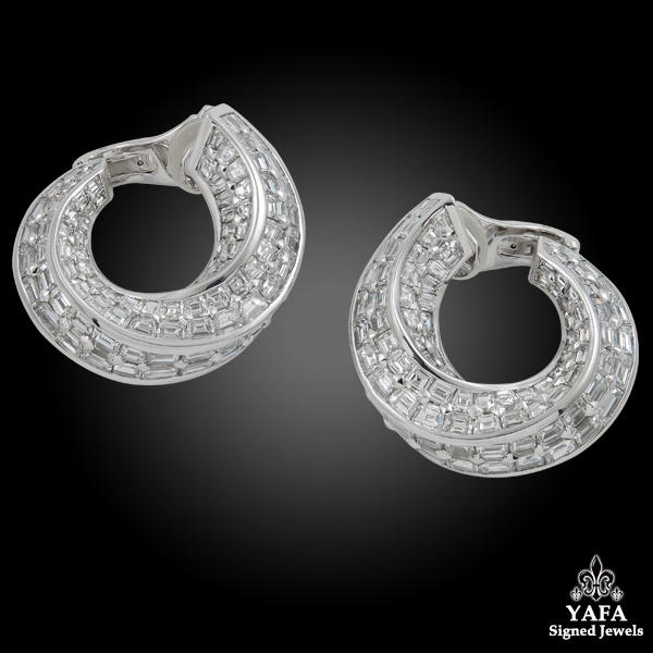 GRAFF Spiral Diamond Earrings