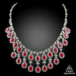 Platinum Diamond & Ruby Necklace - 30.12 cts.