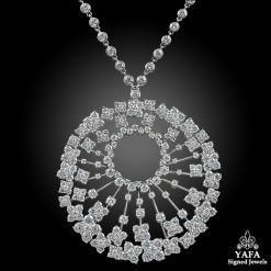 VAN CLEEF & ARPELS Diamond Round Pendant Necklace
