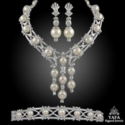 MOUAWAD Diamond, Pearl Necklace Suite