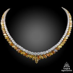 18k Gold White, Fancy Diamond Necklace