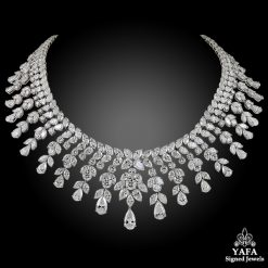 Modern Platinum Diamond Necklace - 150.97 cts.