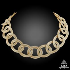 CARTIER Diamond Link Gold Necklace