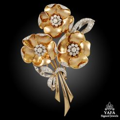 Retro Diamond Flower Brooch