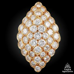 VAN CLEEF & ARPELS Pave Diamond Gold Ring