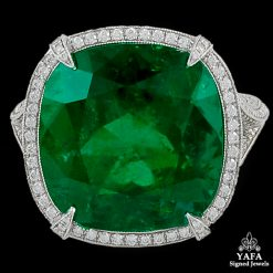Contemporary Emerald Diamond Ring 14.61 cts