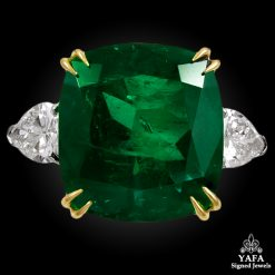 Platinum Diamond, Emerald Ring - 17.11 cts.