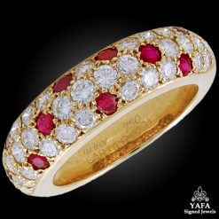 CARTIER Diamond, Ruby Ring - Size 53