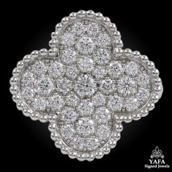 VAN CLEEF & ARPELS Diamond Alhambra Ring
