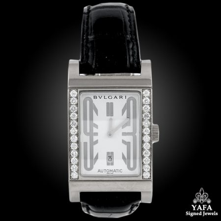 BULGARI Diamond Rectangular Watch