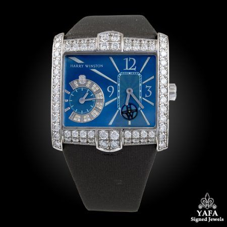 HARRY WINSTON Diamond Blue Face Watch