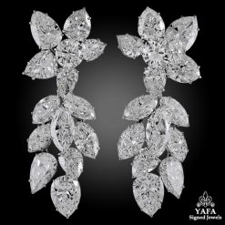 1960s Harry Winston Diamond Platinum Earrings
