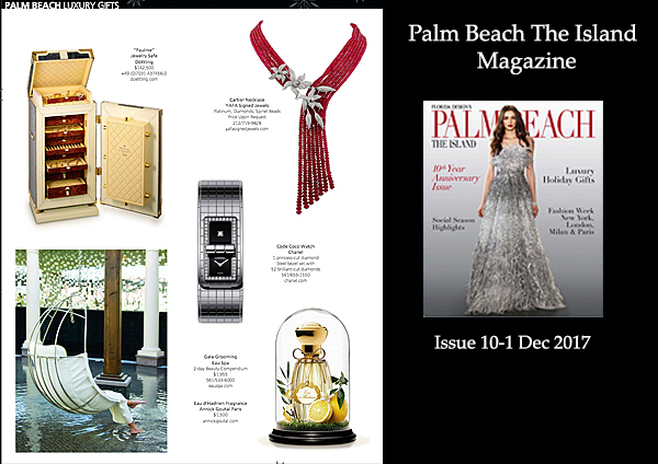 Palm Beach Magazine Luxury Gifts Dec. 2017