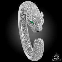CARTIER Diamond, Emerald, Onyx Panther Bracelet