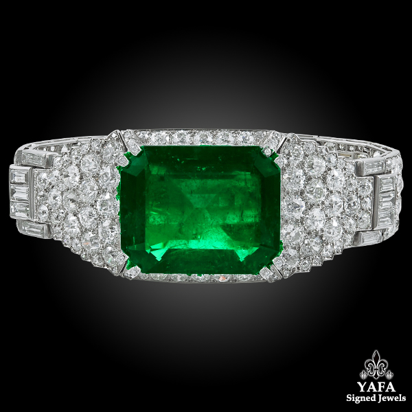 CARTIER Colombian Emerald & Diamond Bracelet