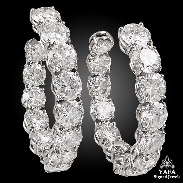 HARRY WINSTON Diamond Hoop Earrings