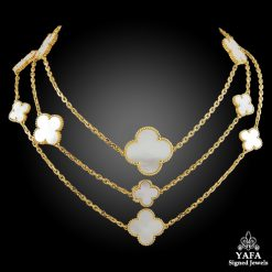 VAN CLEEF & ARPELS 16 Motif Magic Alhambra Long Necklace