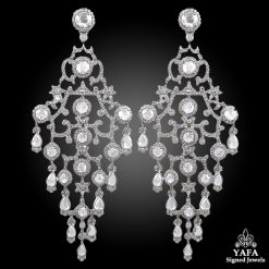 Platinum Diamond Chandelier Earrings