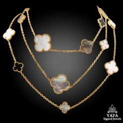 VAN CLEEF & ARPELS 16 Motif Magic Alhambra Necklace