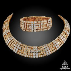 CARTIER Diamond Gold Necklace & Bracelet