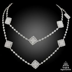 18k Gold Diamond Long Necklace - 21.5 cts.