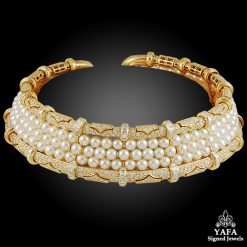 BULGARI Diamond & Pearl Choker Necklace