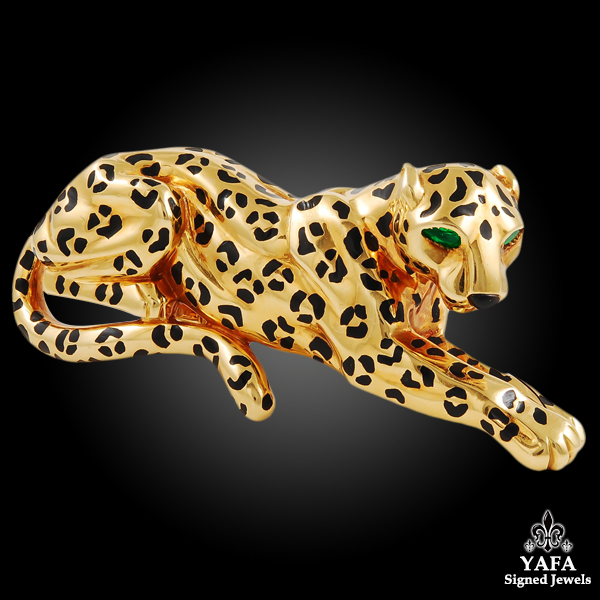 CARTIER Panther Gold Brooch