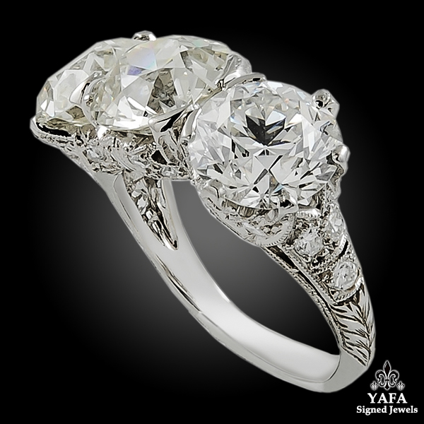 Art Deco Three Stone Diamond Ring