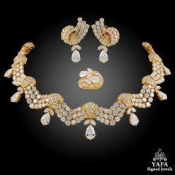 TABBAH 18k Yellow Gold Diamond Parure