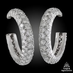 VAN CLEEF & ARPELS Diamond Hoop Earrings