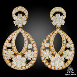 VAN CLEEF & ARPELS Diamond Snowflakes Earrings
