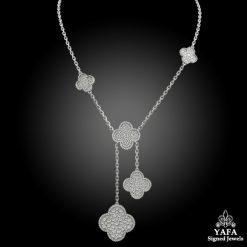 VAN CLEEF & ARPELS Diamond Magic Alhambra Necklace