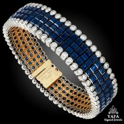 VAN CLEEF & ARPELS Diamond and Sapphire Mystery-Set Bracelet