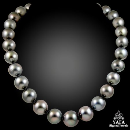 14-17mm South Sea Pearl & Diamond Necklace
