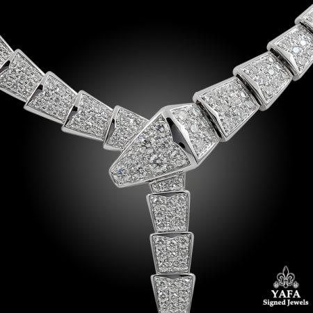 BULGARI Diamond Serpenti Gold Necklace