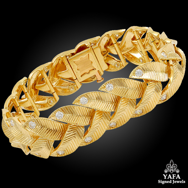 Cartier Diamond Braided Motif Gold Bracelet