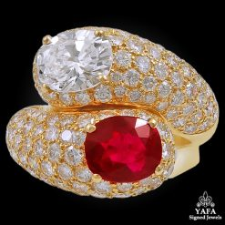CARTIER Diamond Burma Ruby Ring