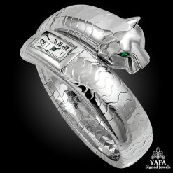 CARTIER Emerald Panther Bangle Watch