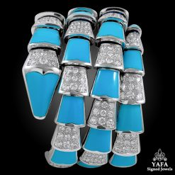 BULGARI Diamond, Turquoise Serpenti Bracelet