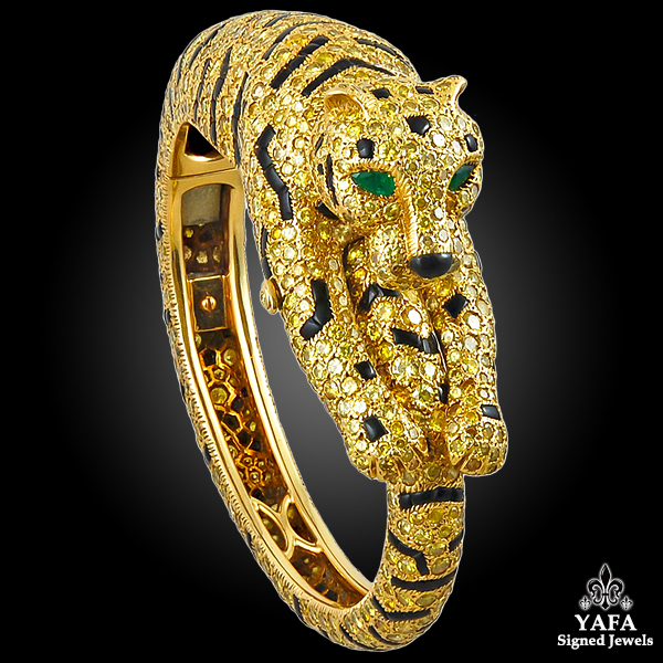 CARTIER Fancy Yellow Diamond Tiger Bangle