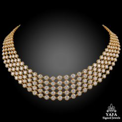 VAN CLEEF & ARPELS Palmyre Diamond Collar Necklace